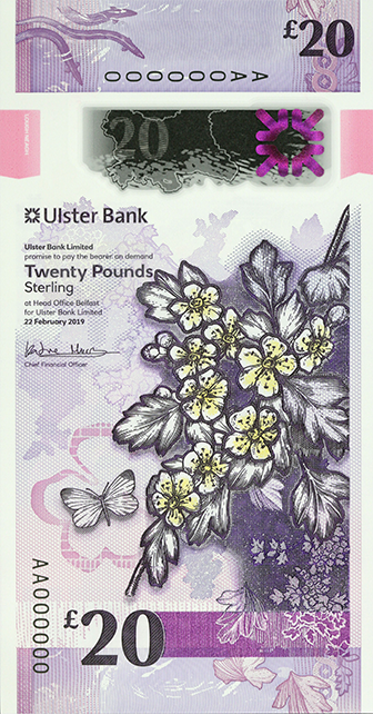 Front of note