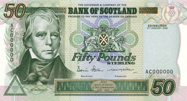 Bank Of Scotland 50 Note