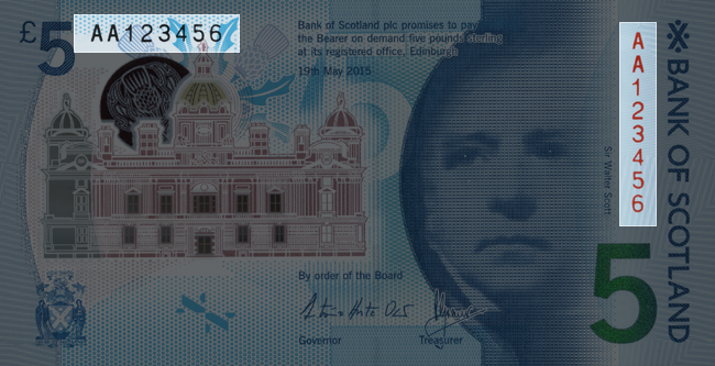 Front of note / Look / Serial Numbers